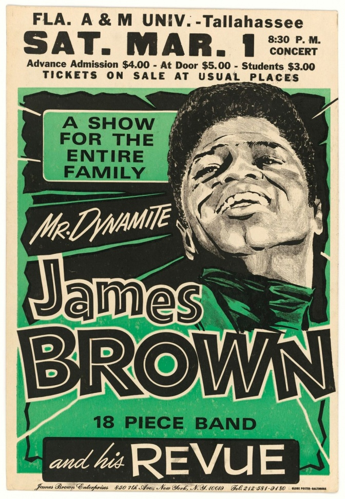 Poster for a 1969 James Brown show at Florida A&M University / National Museum of African American History and Culture