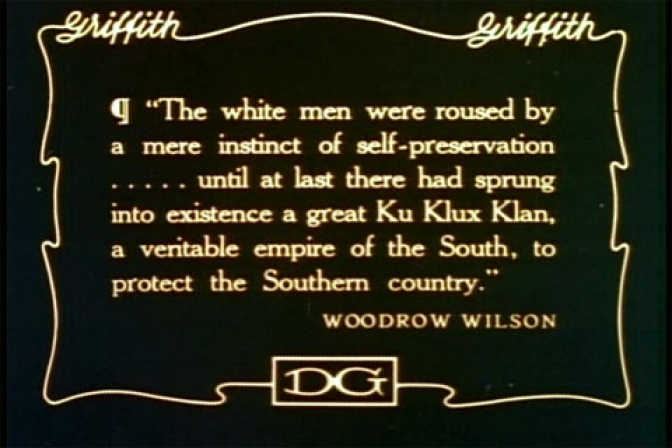 Title card from D. W. Griffith's 'The Birth of a Nation' (1915) / Wikimedia