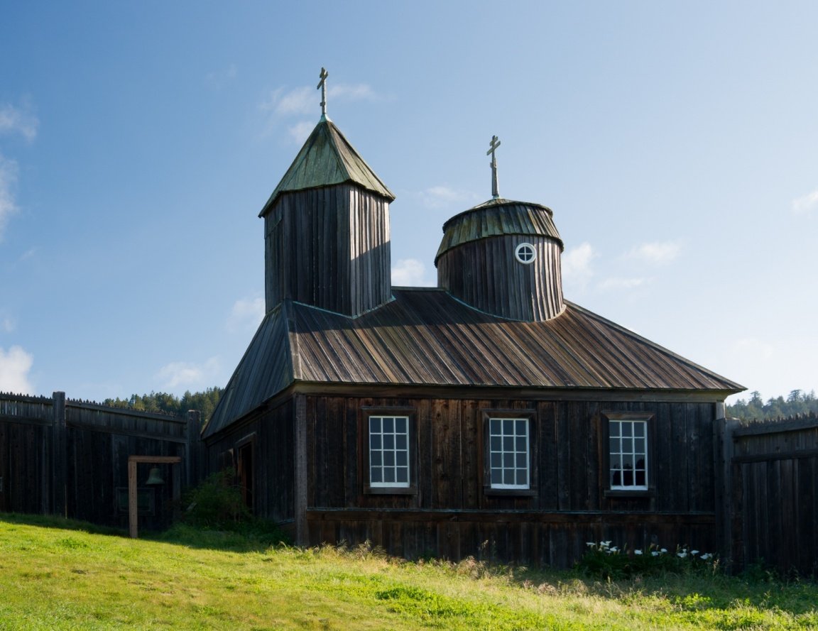 Russian Orthodox Chapel at Fort Ross, California / Wiki Commons