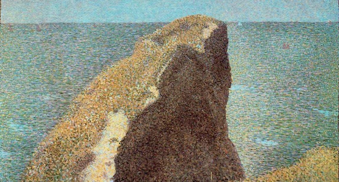 Georges Seurat, Le Bec du Hoc à Grandcamp, 1885