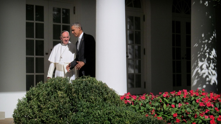 President Obama and Pope Francis in September 2015 / CNS photo
