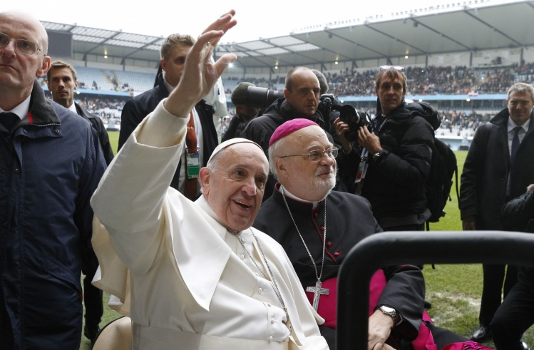 Pope Francis with Cardinal-designate Anders Arborelius of Stockholm / CNS photo