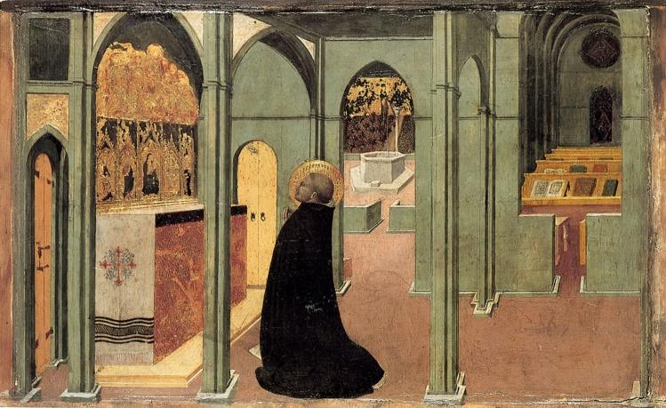 Saint Thomas Aquinas in Prayer, by Sassetta / Alamy