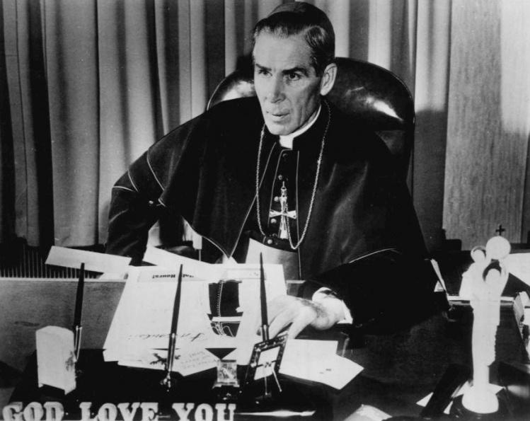 Bishop Fulton J. Sheen, 1956 / Wikimedia