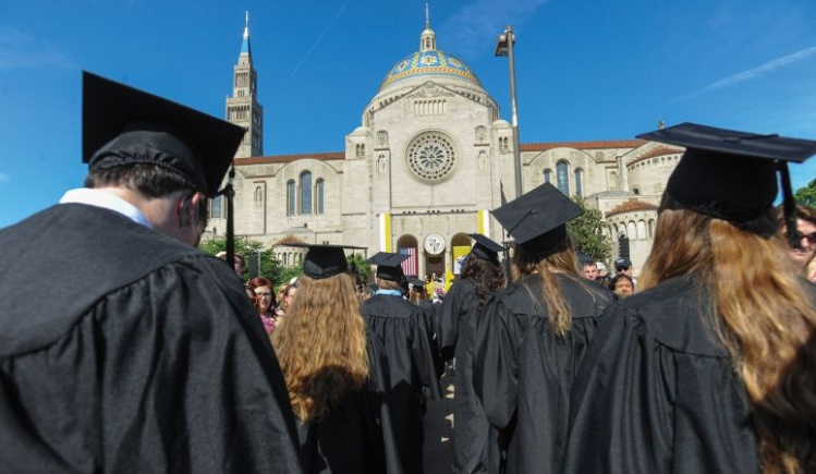 Commencement day, 2016, at Catholic University of America / CNS photo