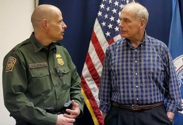 Department of Homeland Security Secretary John Kelly, right, with chief of U.S. Border Patrol Ron Vitiello / Wikimedia