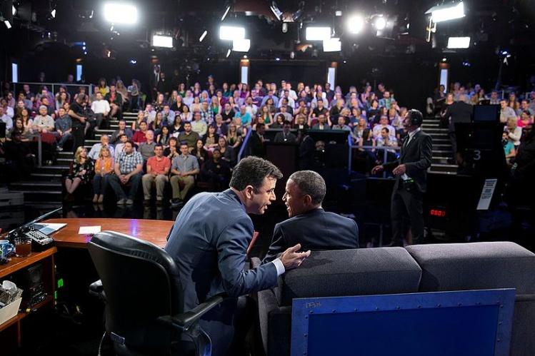 Jimmy Kimmel & Pres. Obama 2015 / Wikimedia