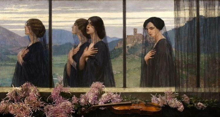 """""""Cztery struny skrzypiec (Four Strings of the Violin)"""" by Edward Okuń 1914 / Wikimedia"""
