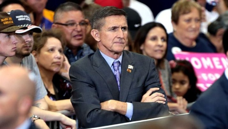 Retired U.S. Army lieutenant general Michael Flynn at a campaign rally for Donald Trump/ Gage Skidmore - Wikimedia