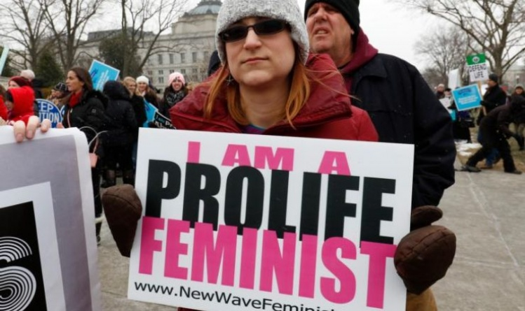 Prolife advocates at the annual March for Life / CNS photo