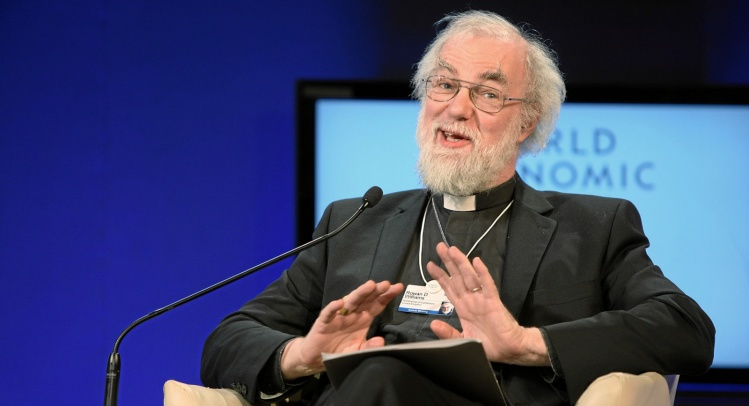 Rowan Williams speaking at the 2010 World Economic Forum in Davos / Wikimedia