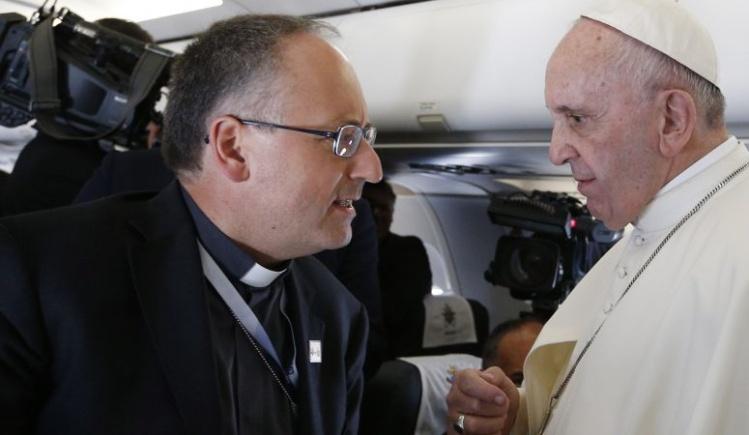Antonio Spadaro with Pope Francis / photo by CNS