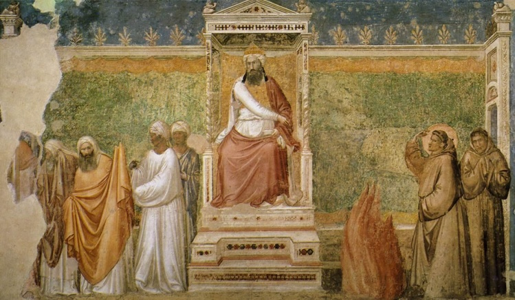 St. Francis before the Sultan (Trial by Fire) / Giotto di Bondone