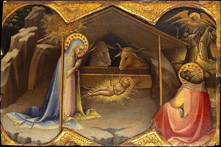 The Nativity - Lorenzo Monaco  / The Metropolitan Museum of Art & Wikimedia