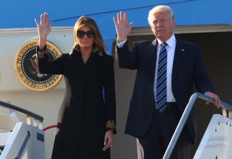Donald and Melania Trump arrive in Rome / CNS photo