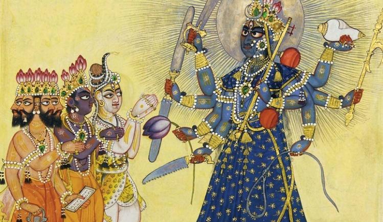 Goddess Bhadrakali Worshipped by the Gods