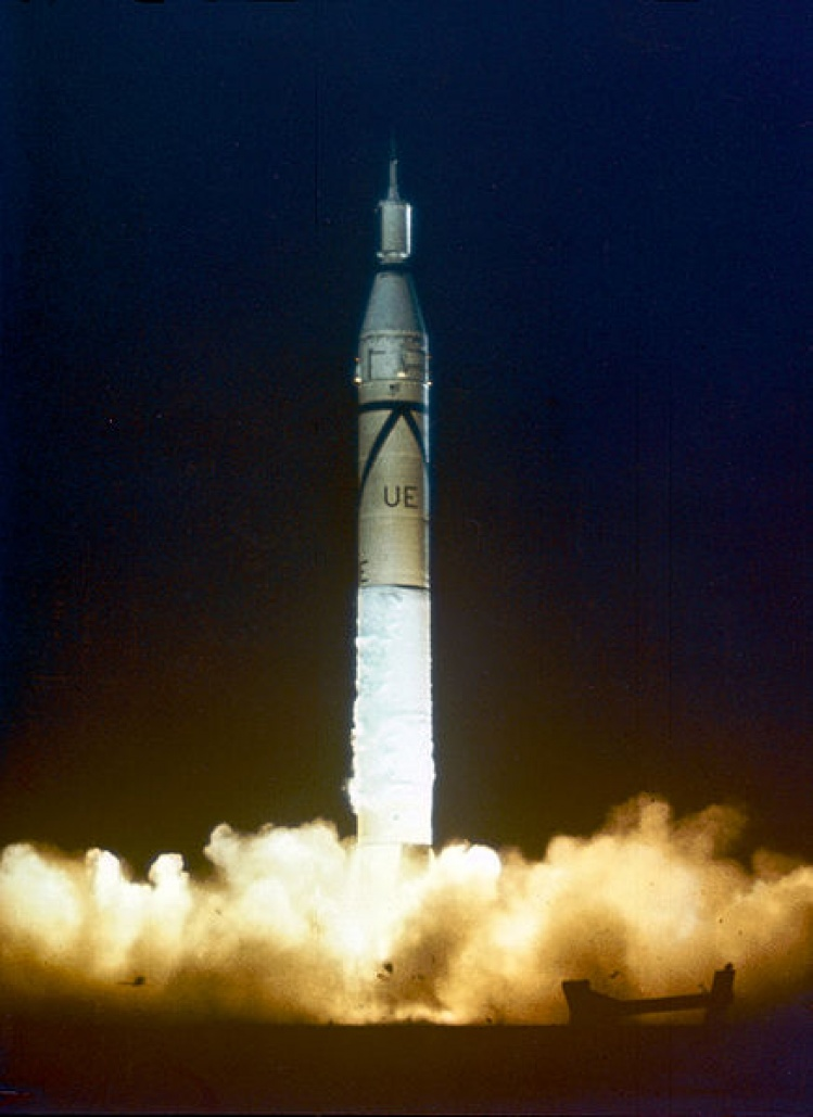 Launch of Jupiter-C/Explorer 1 at Cape Canaveral, 1958