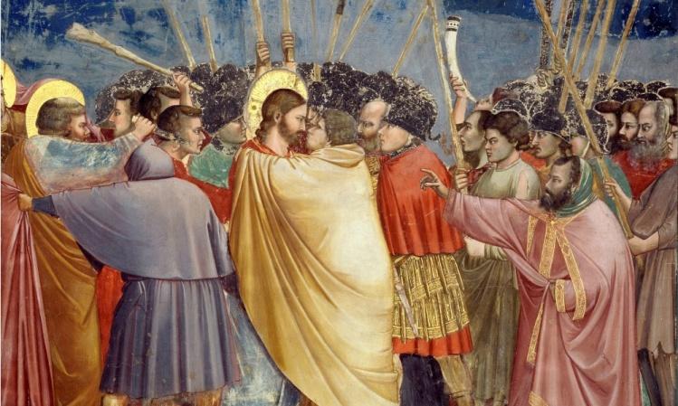 Giotto, The Arrest of Christ (Kiss of Judas), circa 1305
