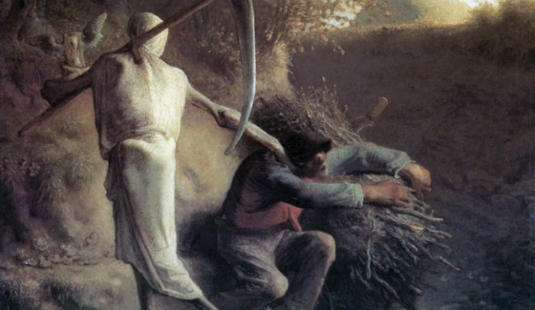 """""""Death and the Woodcutter,"""" Jean-François Millet"""