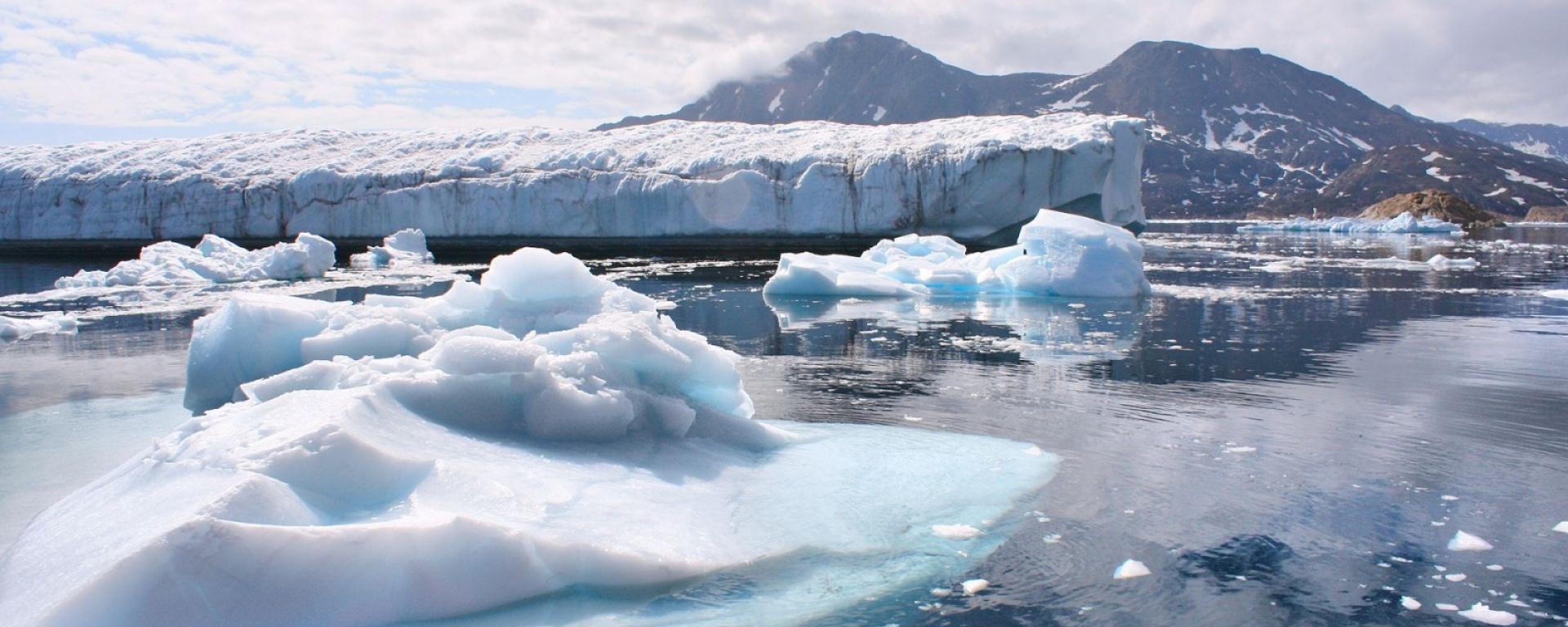 Greenland glaciers photo by Christine Zenino / Wikimedia