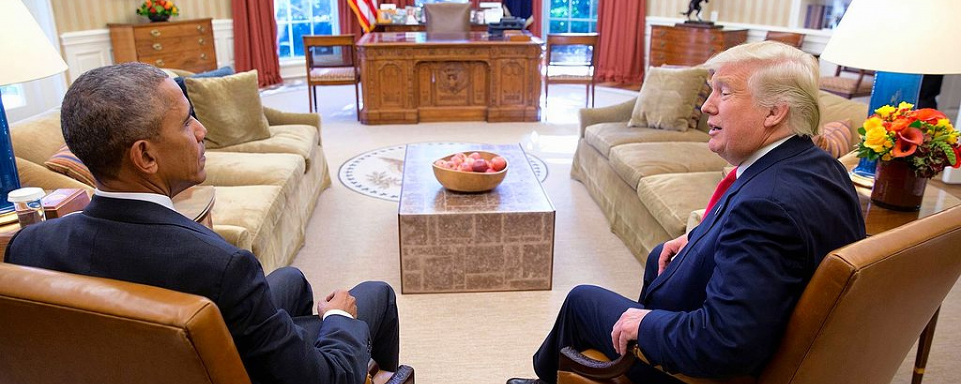 Barack Obama and Donald Trump, shortly after the 2016 election / Wikimedia