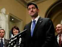 Paul Ryan, R-Wisconsin, after the House of Representatives passed tax legislation / CNS photo