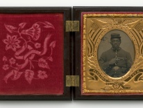 Tintype of a Civil War solider / photo courtesy of the National Museum of African American History and Culture