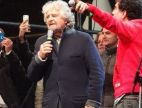 Beppe Grillo, of Italy's Five Star Party; photo by Revol Web from Bologna/ Wikimedia