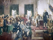 "Howard Chandler Christy, ""Signing of the Constitution,"" 1940; courtesy Art Architect Of The Capitol"