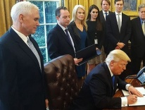 Donald Trump in the Oval Office / Wikimedia