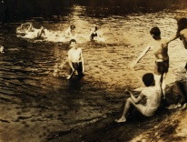 Photo by Lewis Hine, The Swimming Hole, Westfield, Massachusetts, 1916