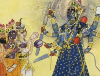 Goddess Bhadrakali Worshipped by the Gods