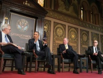 President Obama at the Catholic-Evangelical Leadership Summit on Overcoming Poverty at Georgetown University, May 2015