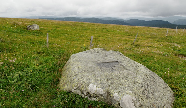 A stone marking the boundary between Alsace-Lorraine and France after the Franco-Prussian War of 1870–71