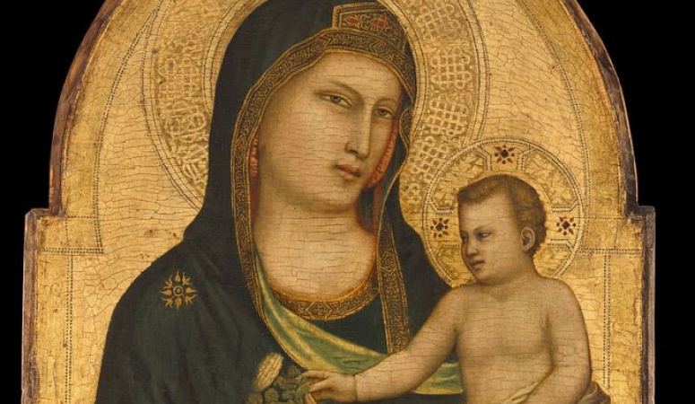 Detail from Giotto's Madonna and Child / Wikimedia