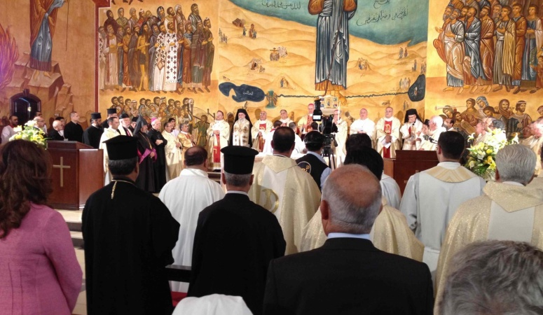 Mass for Pope Francis, Church of the Good Shepherd, Our Lady of Peace Center, Amman, Jordan