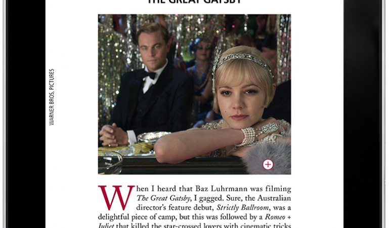 The Great Gatsby screen review in Commonweal Magazine, formatted for iPad