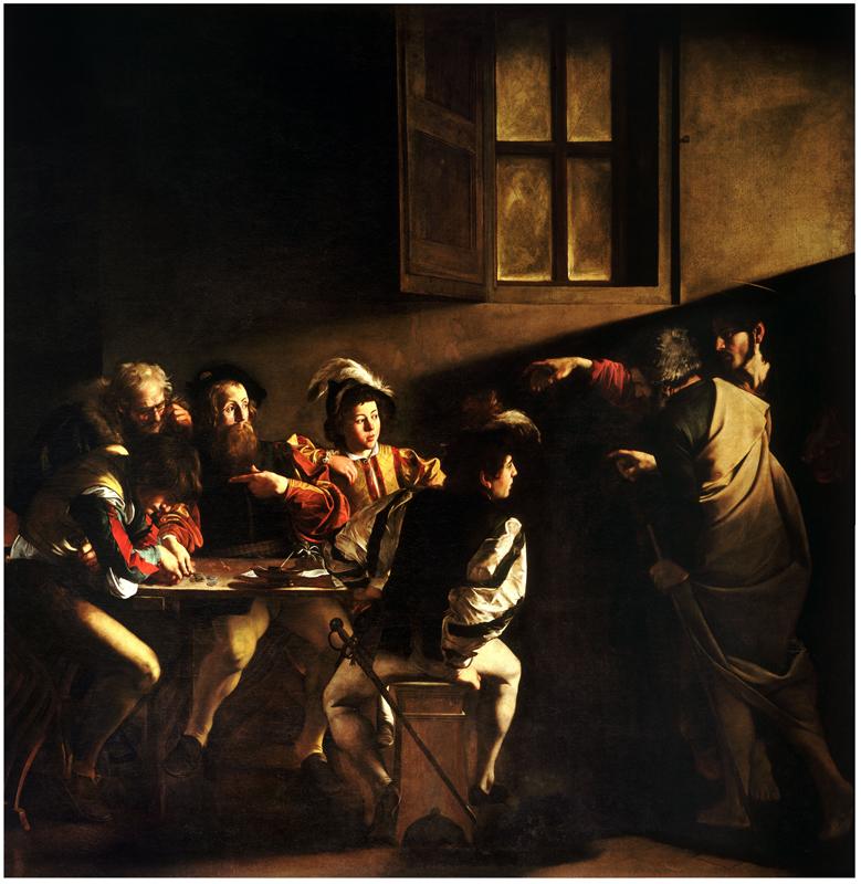 Caravaggio - The Calling of St. Matthew