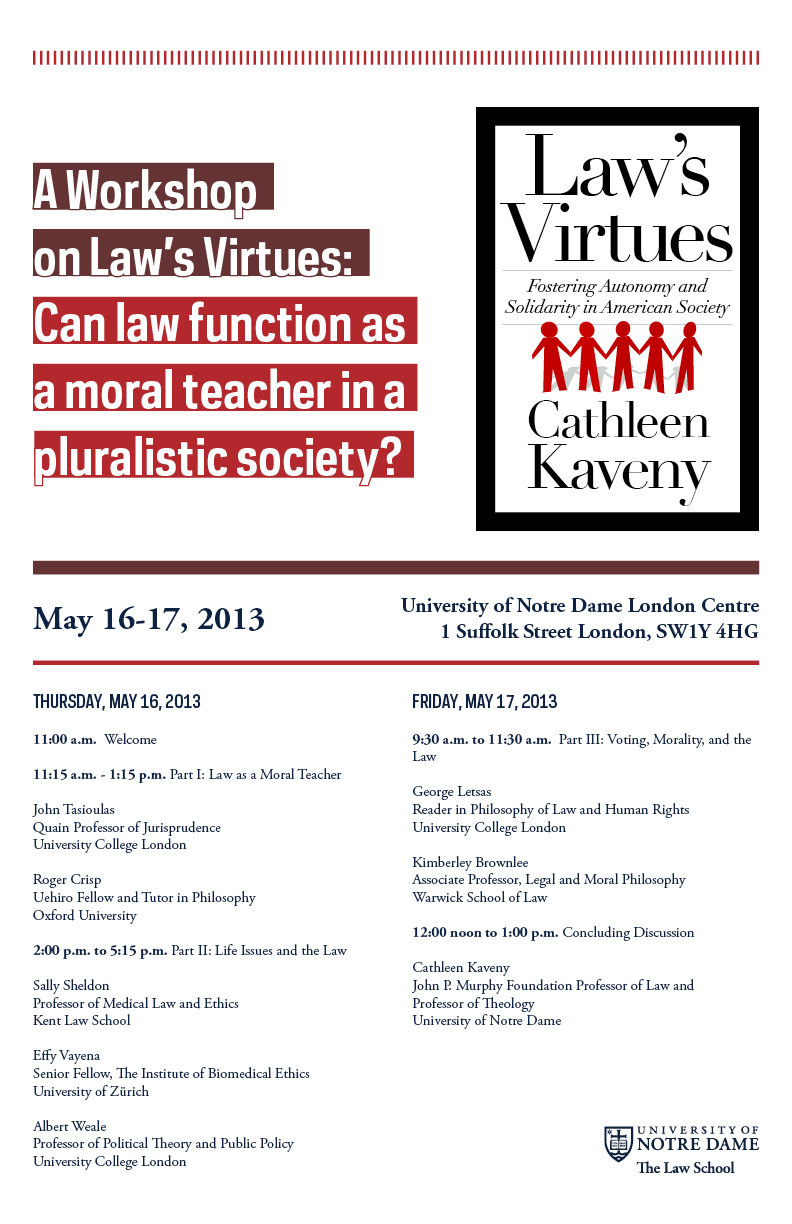 12 Virtues law's virtues in london   commonweal magazine